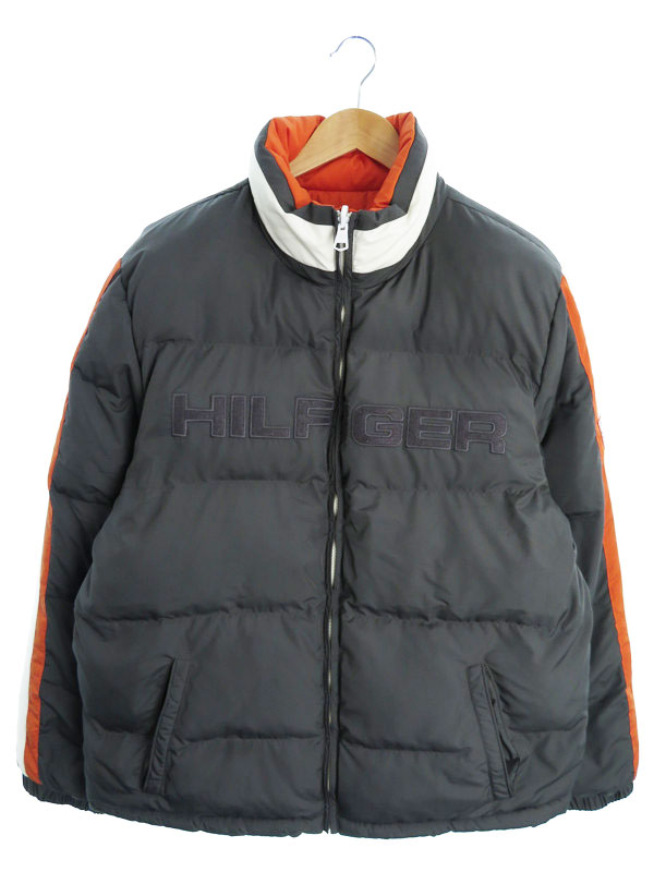 【TOMMY HILFIGER】【アウター】トミーヒルフィガー『リバーシブル 中綿ジャケット sizeXL』メンズ ブルゾン 1週間保証【中古】