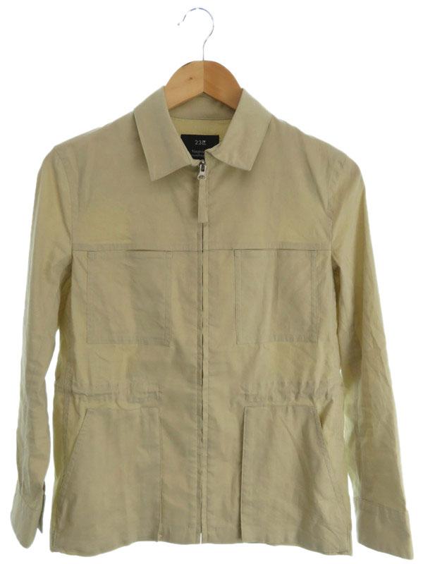 【23ku】【アウター】ニジュウサンク『ジップシャツジャケット size38』レディース 1週間保証【中古】