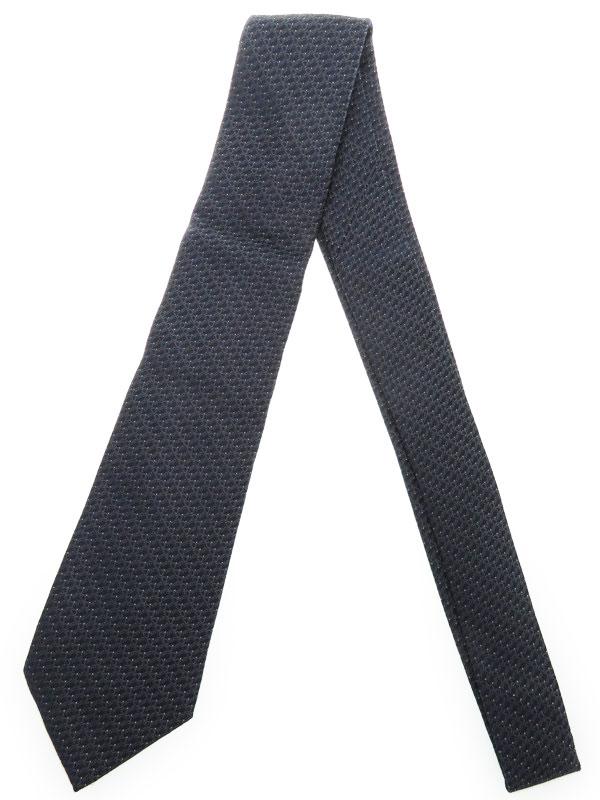 【Dior】【ネクタイ】クリスチャンディオール『ロゴ柄 シルクネクタイ』メンズ 1週間保証【中古】