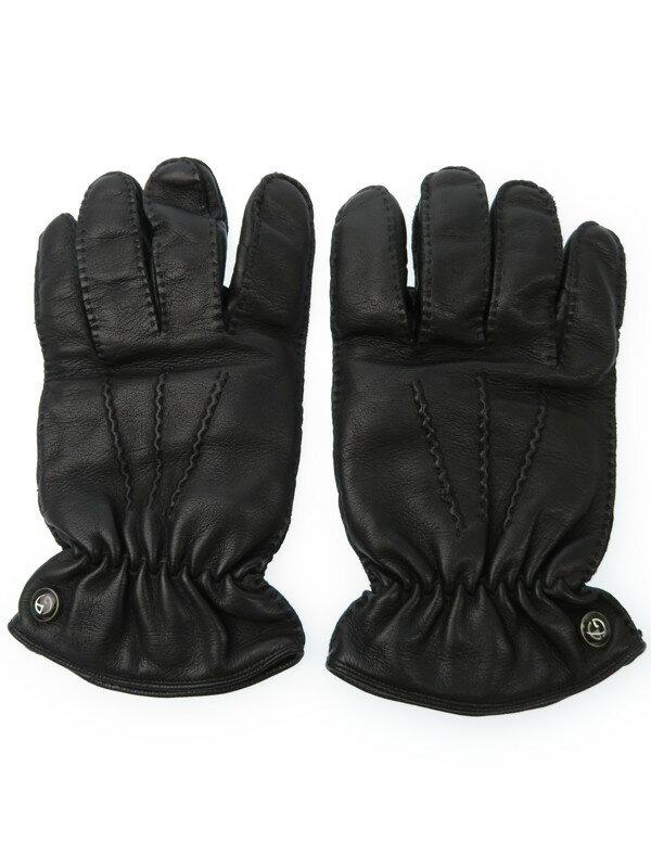 【GIORGIO ARMANI】【手袋】ジョルジオアルマーニ『レザーグローブ sizeS』メンズ 手袋 1週間保証【中古】