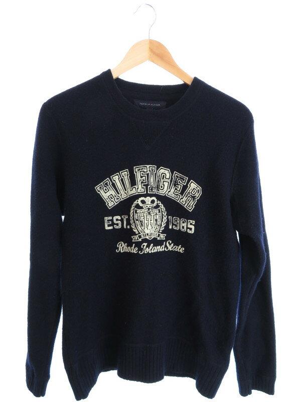 【TOMMY HILFIGER】【トップス】トミーヒルフィガー『長袖ニット sizeL』メンズ セーター 1週間保証【中古】