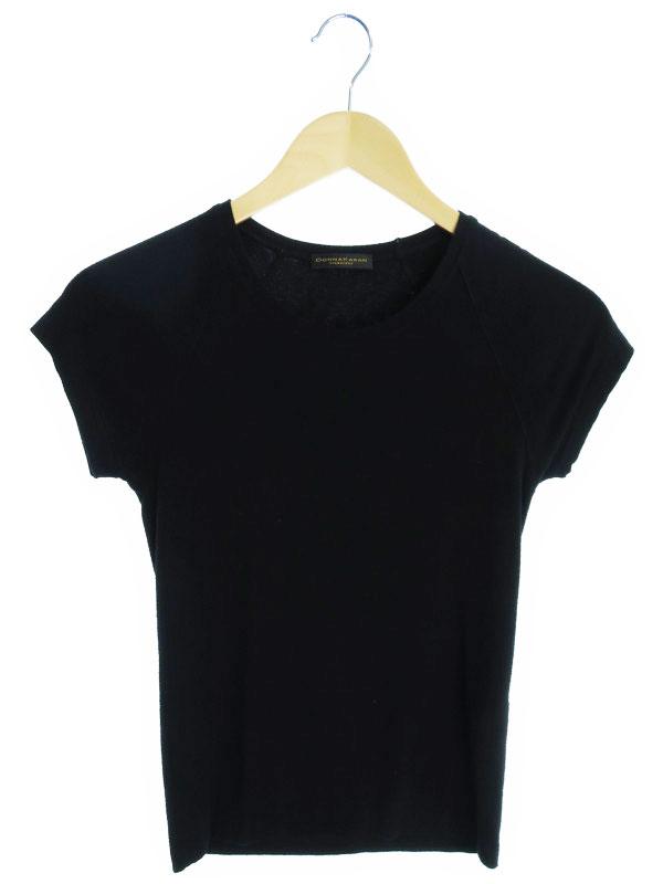 【DONNA KARAN】【トップス】ダナキャラン『半袖Tシャツ sizeP』レディース カットソー 1週間保証【中古】