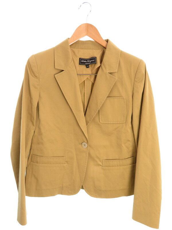 【Salvatore Ferragamo】【アウター】フェラガモ『テーラードジャケット size48』レディース ブレザー 1週間保証【中古】
