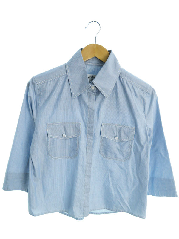 【CHANEL】【2ピース】【セットアップ】シャネル『シャツ パンツ 上下セット size40』レディース セットアップ 1週間保証【中古】