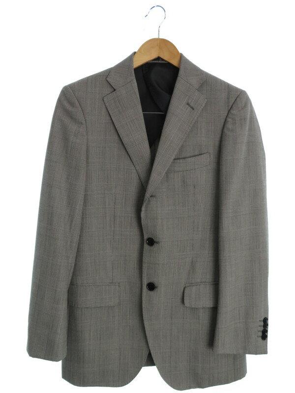 【MALE&Co.】【2ピース】メイルアンドコー『チェック柄シングルスーツ上下セット sizeY6』メンズ セットアップ 1週間保証【中古】