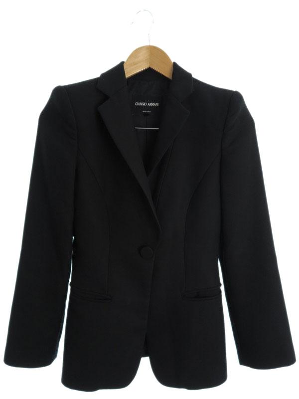 【GIORGIO ARMANI】【アウター】ジョルジオアルマーニ『1Bテーラードジャケット size36』レディース ブレザー 1週間保証【中古】