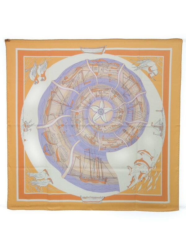 【HERMES】【COMPAGNONS DE MER】エルメス『カレ90 海の仲間たち』レディース スカーフ 1週間保証【中古】