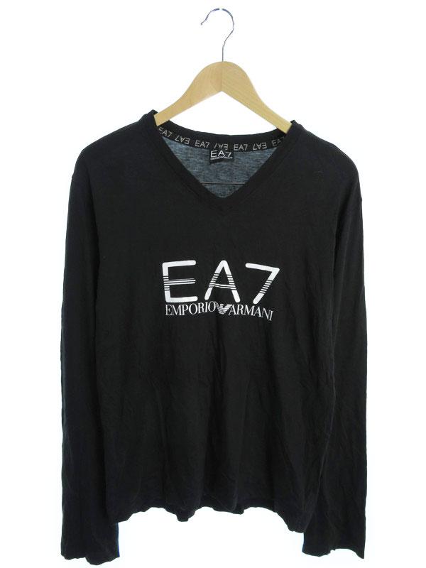 【EMPORIO ARMANI】【トップス】エンポリオアルマーニ『コットン長袖Tシャツ sizeXL』メンズ カットソー 1週間保証【中古】