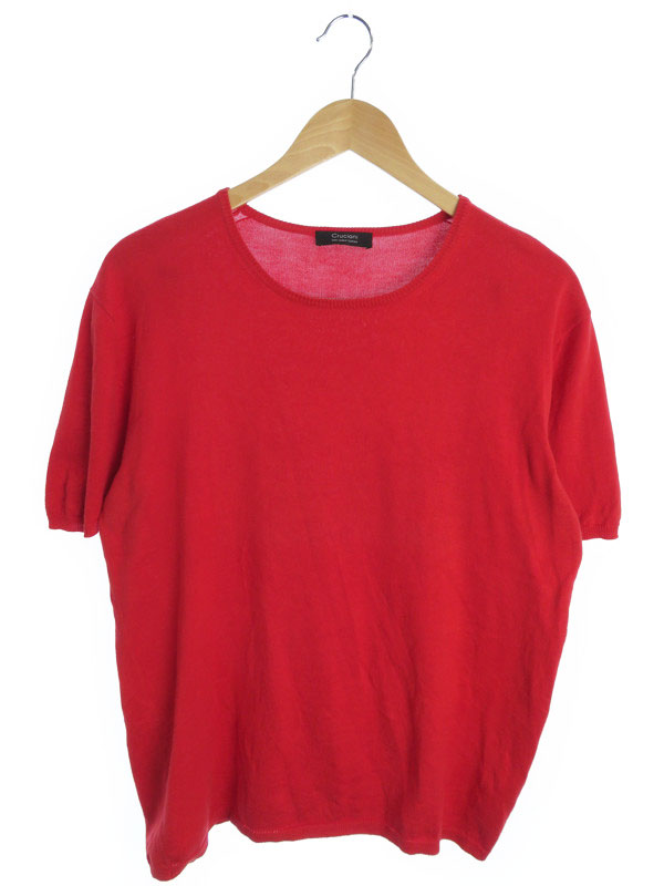【CRUCIANI】【トップス】クルチアーニ『コットン半袖ニット size50』メンズ セーター 1週間保証【中古】