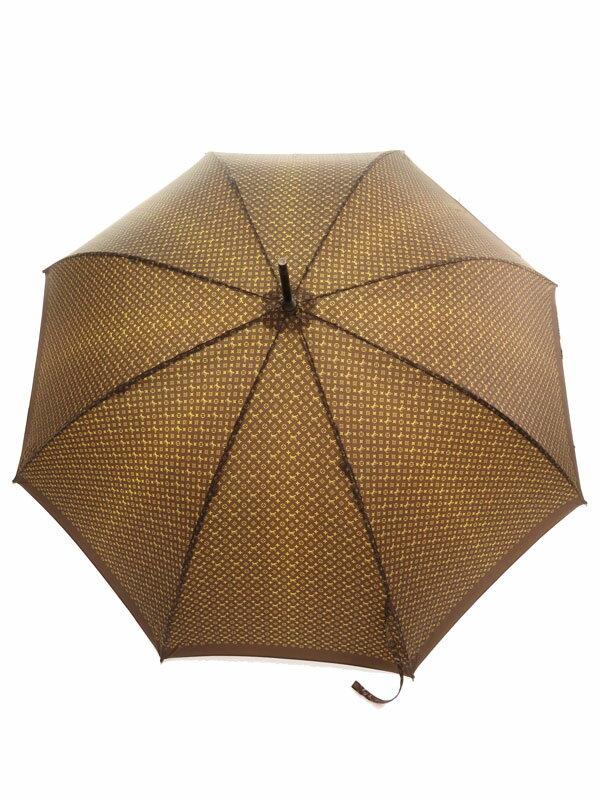 【LOUIS VUITTON】【雨傘】ルイヴィトン『モノグラム柄 雨傘』ユニセックス 1週間保証【中古】