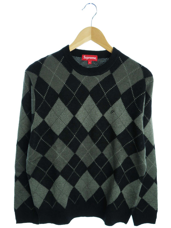 【Supreme】【トップス】シュプリーム『アーガイル柄長袖ニット sizeS』メンズ セーター 1週間保証【中古】