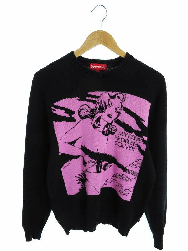 【Supreme】【トップス】【15SS】シュプリーム『コットン長袖ニット sizeS』メンズ セーター 1週間保証【中古】