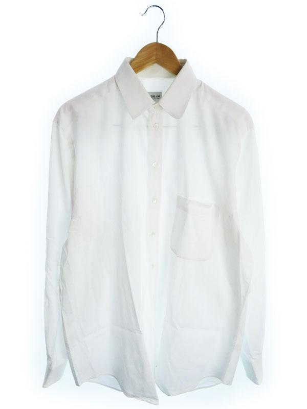 【ARMANI COLLEZIONI】【トップス】アルマーニコレッツォーニ『コットン長袖シャツ size43/17』メンズ 1週間保証【中古】