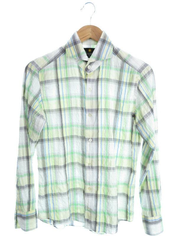 【GIANNETTO】【トップス】ジャンネット『チェック柄長袖シャツ sizeS』メンズ 1週間保証【中古】
