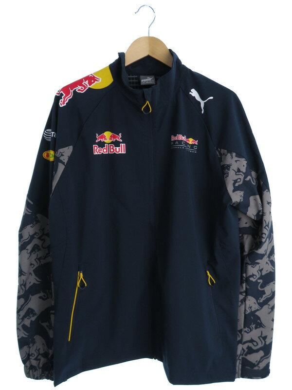 【PUMA】【Red Bull】【アウター】プーマ『ジップアップジャケット sizeLG』メンズ ブルゾン 1週間保証【中古】