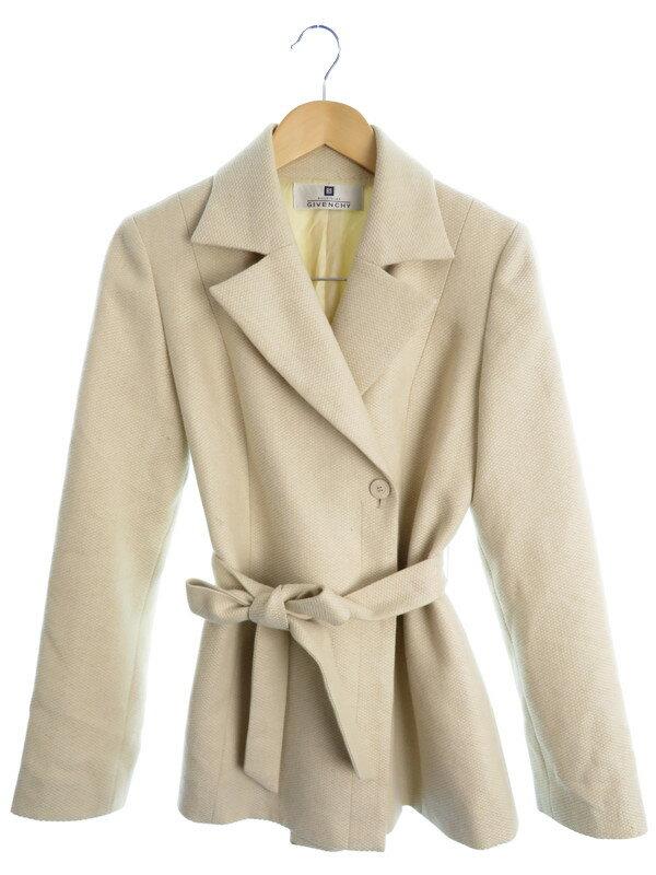 【GIVENCHY】【アウター】ジバンシィ『カシミヤ紺ウールジャケット size38』レディース 1週間保証【中古】