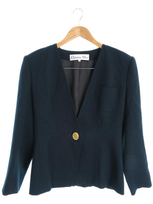 【Christian Dior】【アウター】クリスチャンディオール『ノーカラージャケット size9』レディース 1週間保証【中古】