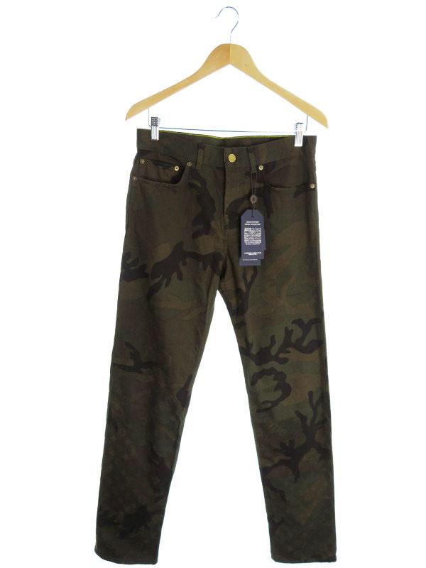 【LOUIS VUITTON】【ジーパン】【ボトムス】【ジーンズ】【Supremeコラボ】ルイヴィトン『Jacquard Denim 5-Pocket Jean size28』メンズ デニムパンツ【中古】