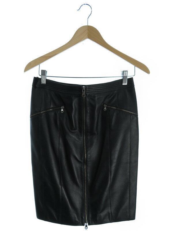 【LOEWE】【ボトムス】ロエベ『レザータイトスカート size40』レディース 1週間保証【中古】