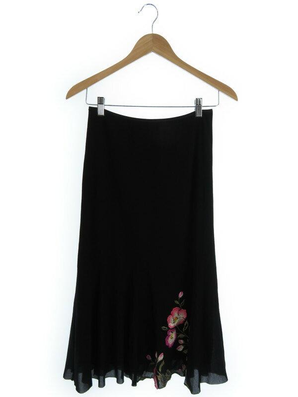 【VIVIENNE TAM】【ボトムス】ヴィヴィアンタム『花刺繍入りスカート size0』レディース 1週間保証【中古】