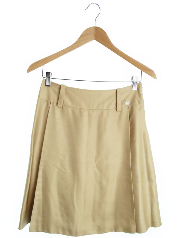 【CHANEL】【ボトムス】シャネル『シルクスカート size38』レディース 1週間保証【中古】