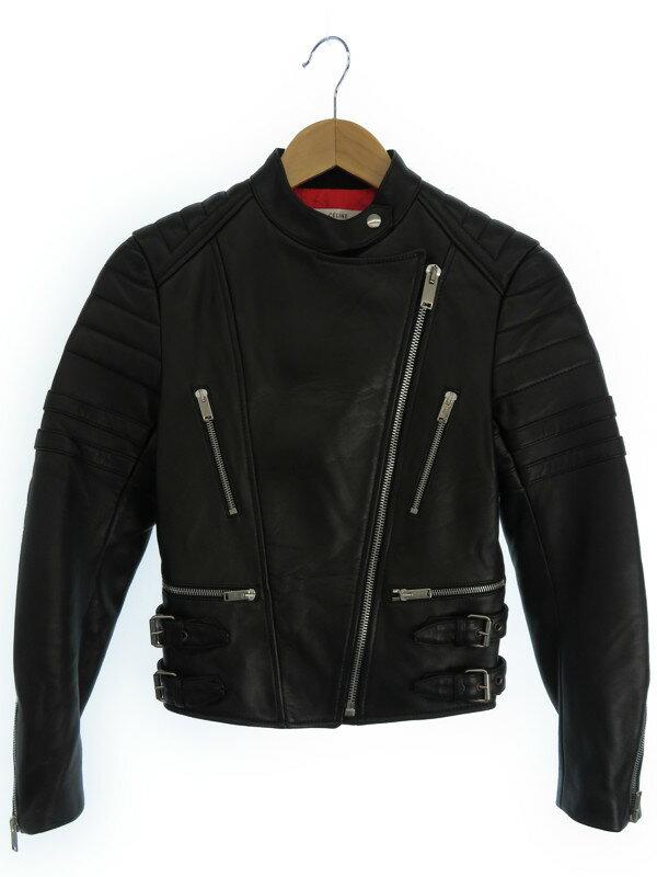 【CELINE】【アウター】セリーヌ『レザーライダースジャケット size36』レディース 1週間保証【中古】