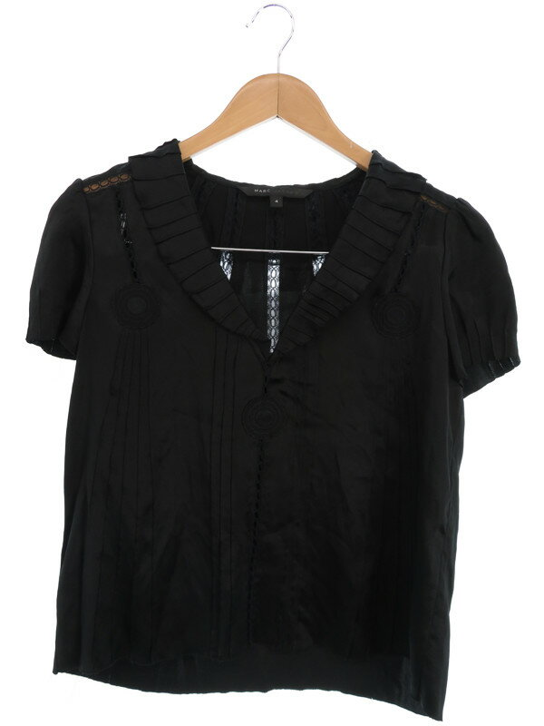 【MARC JACOBS】【トップス】マークジェイコブス『シルク半袖カットソー size4』レディース シャツ 1週間保証【中古】