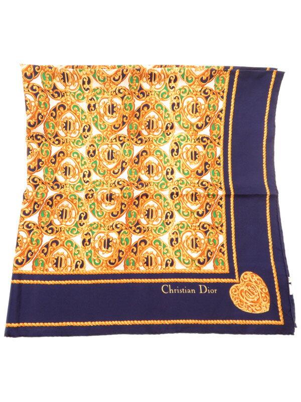 【Christian Dior】クリスチャンディオール『シルクスカーフ』レディース 1週間保証【中古】