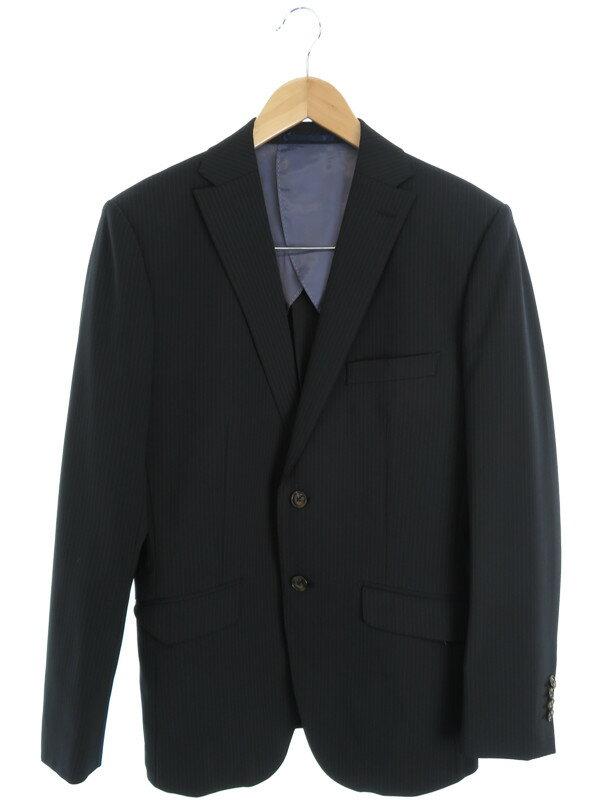 【ABAHOUSE】【上下セット】アバハウス『ストライプ柄スーツ size3』メンズ セットアップ 1週間保証【中古】