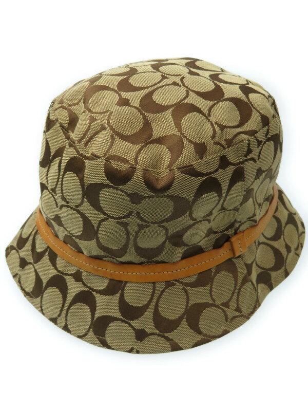 【COACH】コーチ『シグネチャー柄 ハット size P/S』レディース 帽子 1週間保証【中古】
