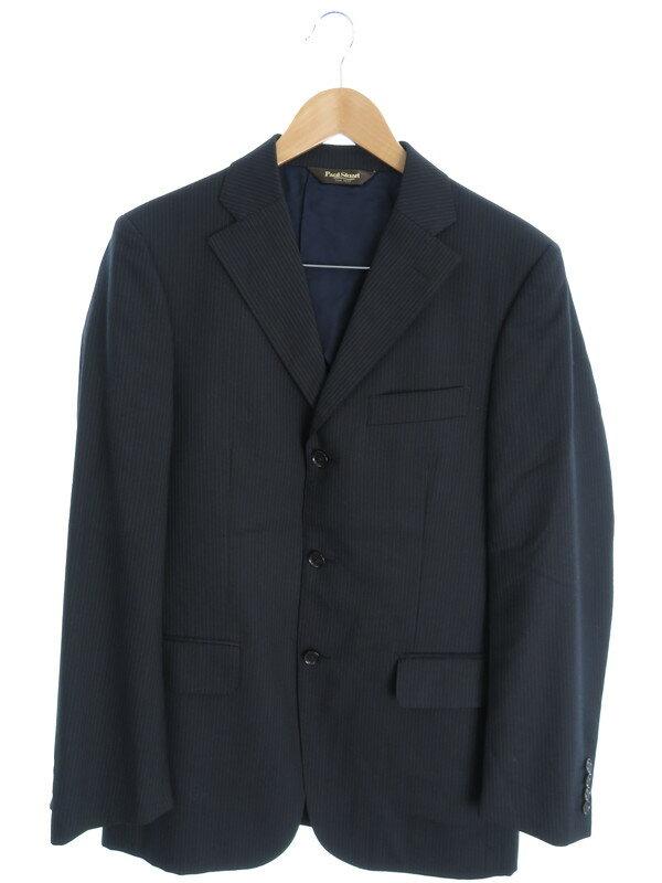 【Paul Stuart】【上下セット】ポールスチュアート『ストライプ柄スーツ size48R』メンズ セットアップ 1週間保証【中古】