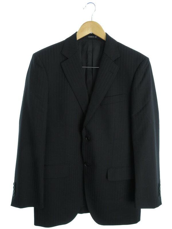 【CERRUTI 1881】【上下セット】セルッティ1881『ストライプ柄スーツ size48』メンズ セットアップ 1週間保証【中古】