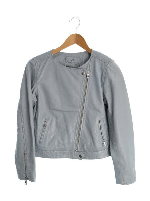 【London Denim】【アウター】ロンドンデニム『レザージャケット size38』レディース 革ジャン 1週間保証【中古】