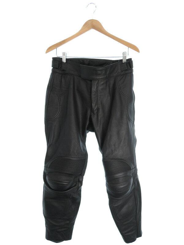 【RS TAICHI】【ボトムス】バイクウエア アールエスタイチ『プロテクター付レザーパンツ size M/2W』メンズ ズボン 1週間保証【中古】