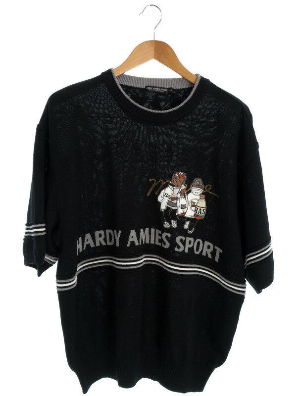 【HARDY AMIES SPORT】【トップス】ハーディエイミススポーツ『半袖ニット sizeL』メンズ セーター 1週間保証【中古】
