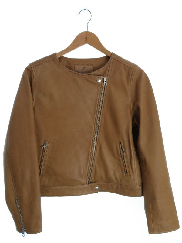 【London Denim】【アウター】ロンドンデニム『レザージャケット size40』レディース 革ジャン 1週間保証【中古】