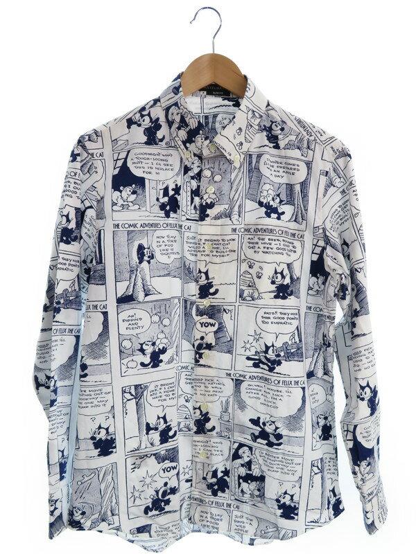 【CASTELBAJAC】【トップス】【フィリックス・ザ・キャット】カステルバジャック『長袖ボタンダウンシャツ size4』メンズ 1週間保証【中古】