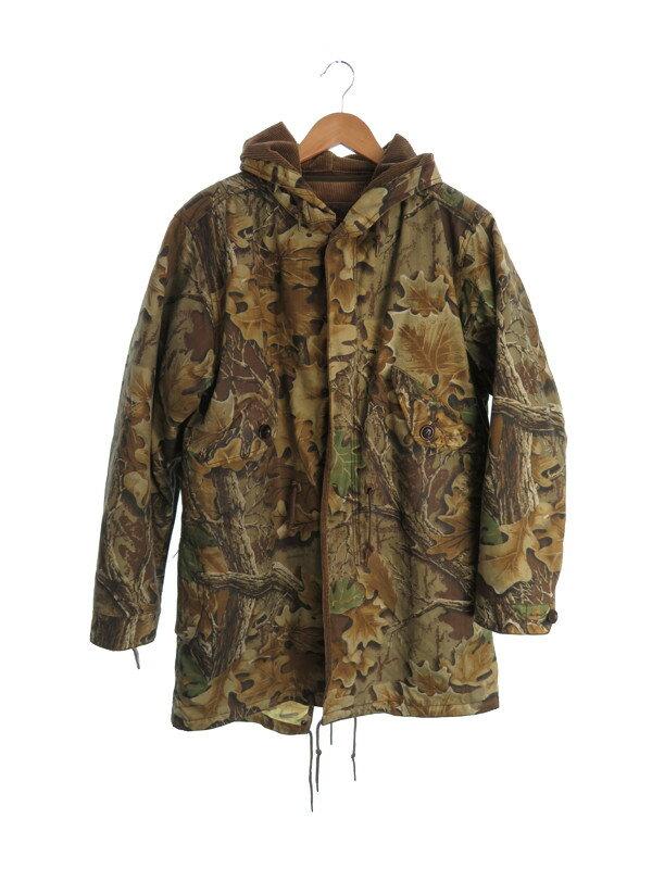 【Johnbull】【アウター】【植物柄】ジョンブル『ハンティングコート sizeM ライナー付』メンズ オイルドジャケット 1週間保証【中古】