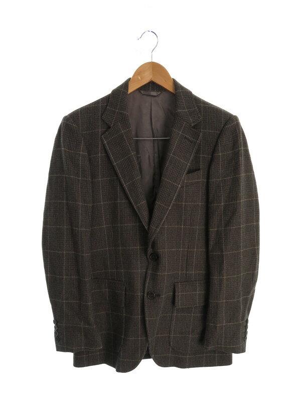【BEAMS】【セットアップ】【2ピース】ビームス『チェック柄スーツ上下セット size46』メンズ 1週間保証【中古】