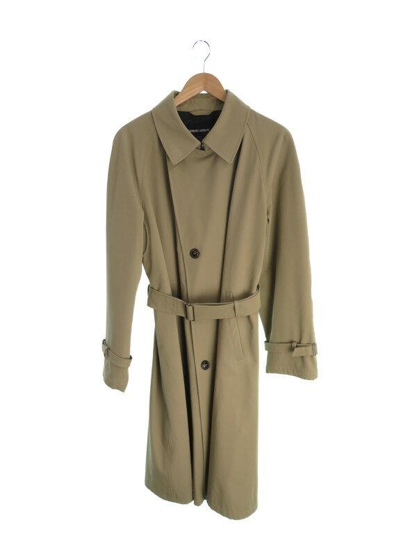 【GIORGIO ARMANI】【アウター】ジョルジオアルマーニ『ステンカラーコート size48』メンズ ロングコート 1週間保証【中古】