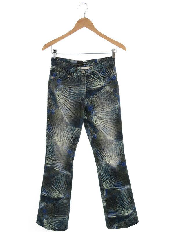 【FENDI】【ズボン】フェンディ『総柄 ロングパンツ size24』レディース 1週間保証【中古】