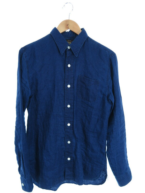 【Ralph Lauren】【トップス】ラルフローレン『水玉柄長袖リネンシャツ sizeS 170/92A』メンズ 1週間保証【中古】