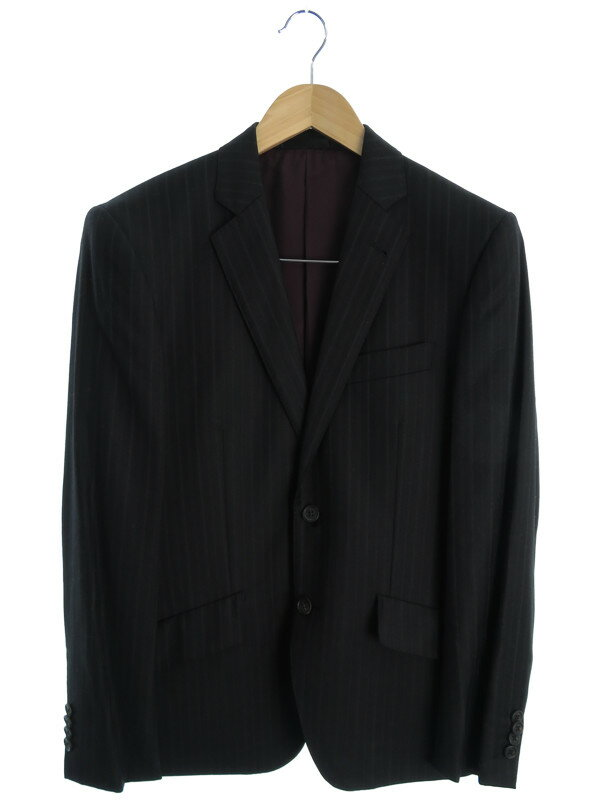 【Paul Smith LONDON】【Loro Piana】【上下セット】ポールスミス『ストライプ柄スーツ sizeM』メンズ セットアップ 1週間保証【中古】