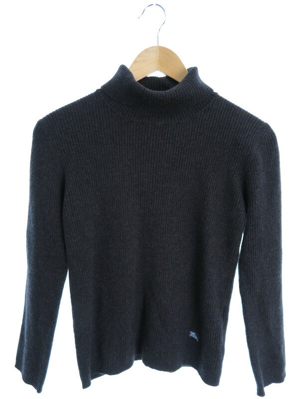 【BURBERRY BLACKLABEL】【トップス】バーバリーブラックレーベル『タートルネック長袖ニット size3』メンズ セーター 1週間保証【中古】