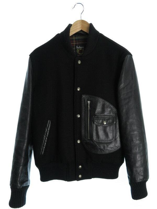 【Schott】【アウター】ショット『袖レザー切替ジャケット size38』メンズ ブルゾン 1週間保証【中古】