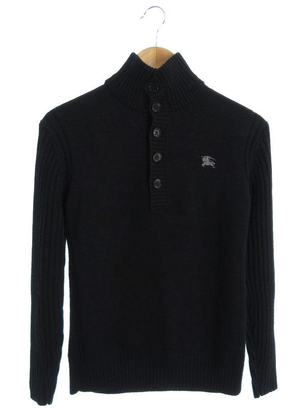 【BURBERRY BLACK LABEL】【トップス】バーバリーブラックレーベル『長袖ニット size2』メンズ セーター 1週間保証【中古】