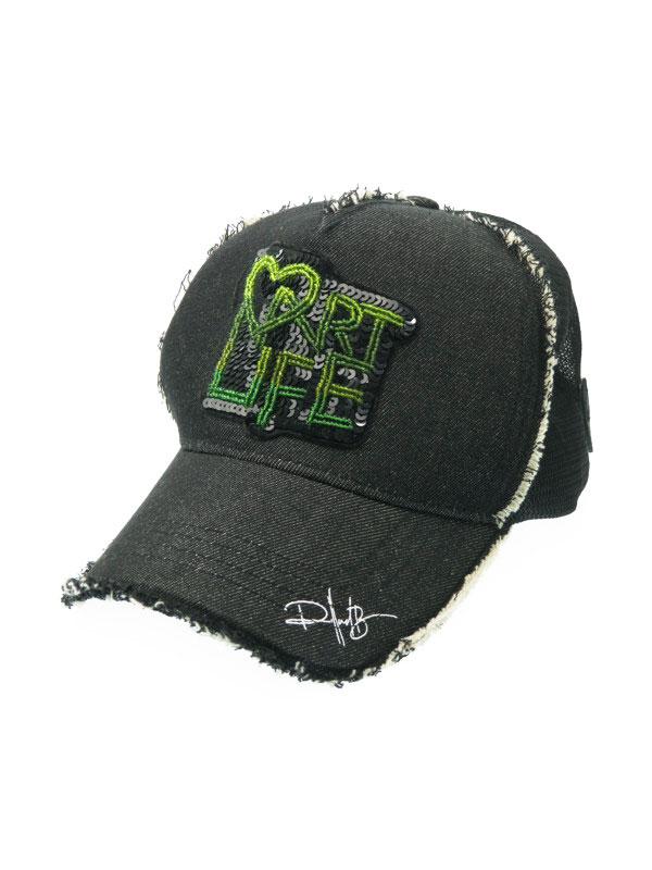 【Yoshinori Kotake×ROLLAND BERRY】【444】ヨシノリコタケ『メッシュキャップ』メンズ 帽子 1週間保証【中古】