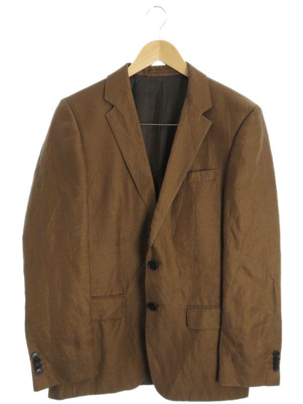 【HUGO BOSS】【上下セット】【ベスト付】ヒューゴボス『3ピース リネン混スーツ size36R』メンズ セットアップ 1週間保証【中古】