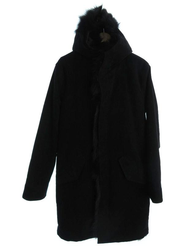 【junhashimoto】【アウター】ジュンハシモト『フード付 裏地毛皮コート  size5』メンズ 1週間保証【中古】