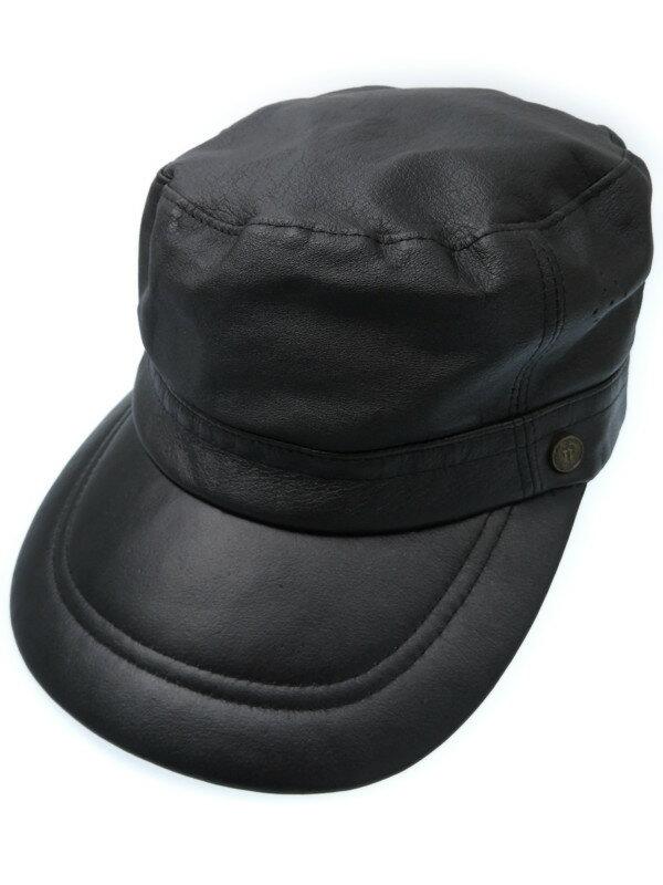 【Tokio hat】トーキョーハット『レザーワークキャップ sizeL』メンズ 帽子 1週間保証【中古】